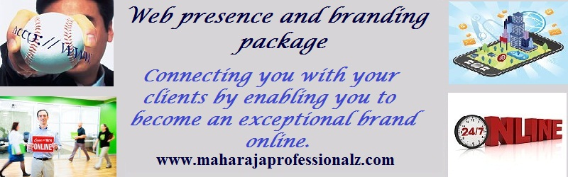 Web Presence and Branding Packages. Connecting you with your clients by enabling you to become an exceptional brand online. maharaja professionalz  dr maharaja sivasubramanian