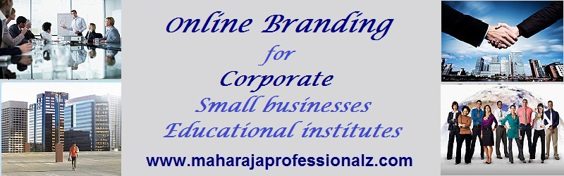 Online branding for corporate web presnece small businesses educational institute maharajaprofessionalz maharaja professionalz  dr maharaja sivasubramanian